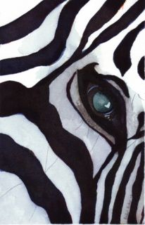 Print Zebra Watercolor Painting Art Africa Safari