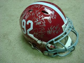 1992 Alabama National Champion Team Signed Real Game Used Full Size