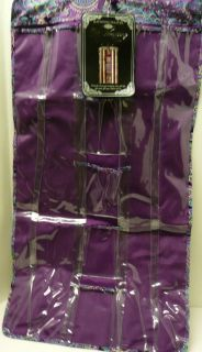 Waites purple hanging gift wrap organizer bag closet 2 sided Xmas