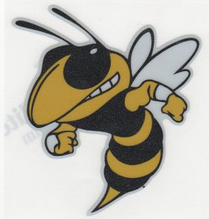 Georgia Tech Yellowjackets Buzz 4 Reflective Vinyl Decal Car Truck