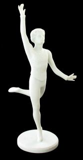 Vintage RARE Goebel Male Ballet Dancer Figurine Man White Bisque