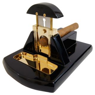 Black Gold Table Top Cigar Cutter Fully Guaranteed by Cuban Crafters