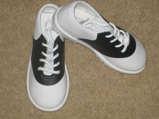 Saddle Shoes Boys or Girls Infant Toddler Black and White Sizes 1 to