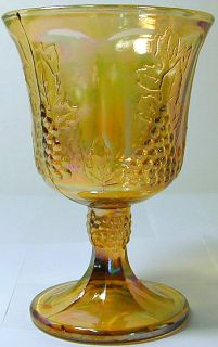 Indiana Glass Company Harvest Grape Pattern Marigold Carnival Glass