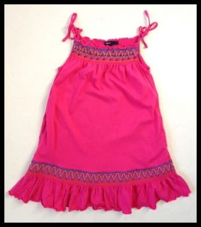 Gap Kids Girls Smocked Pink Marrakesh Summer Dress 4 5
