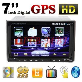 Cool 7 Double DIN Indash Car DVD Player GPS Navigation iPod TV