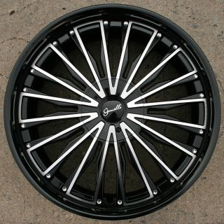 Gianelle Trentino L3 22 Black Rims Wheels Lincoln LS 00 07 22 x 9 0