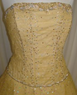 Quinceanera Dress Party Prom Evening Pageant Gown Dress Gold 14