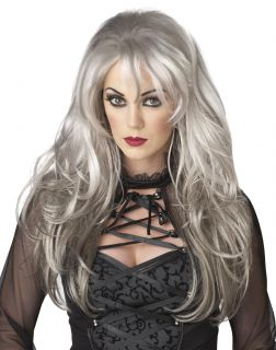 Fallen Angel Adult Costume Wig Gothic Gray Sexy Hair