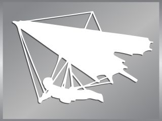 Hang Gliding Cut Vinyl Decal Sticker 1 Hang Glider
