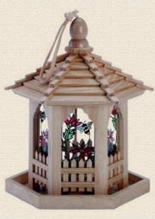 Stained Glass Gazebo Bird Feeder