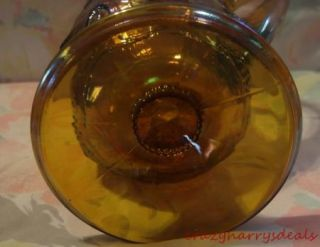 Carnival Glass Pitcher Harvest Grapes iced tea water drinking pitcher