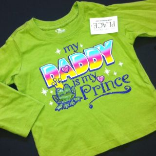New My Daddy Is My Prince Baby Girls Shirt 3T 4T Fathers Day Gift