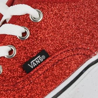 Vans Classic Authentic Glitter Red Womens US Size 8 Mens 6 5