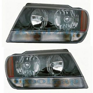 2002 02 Jeep Grand Cherokee Laredo Head Light Lamp Pair