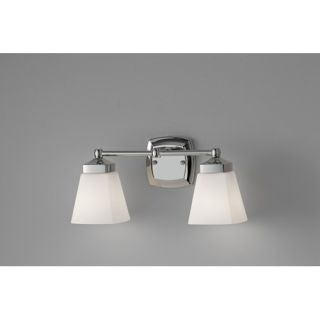 Feiss American Foursquare Vanity Light in Polished Nickel