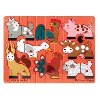 Melissa and Doug Farm in a Box Wooden Jigsaw Puzzle