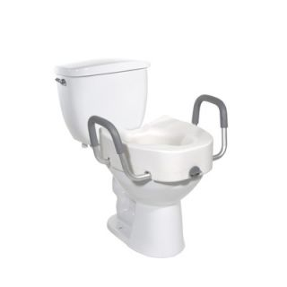 Drive Medical 17 Raised Toilet Seat in White