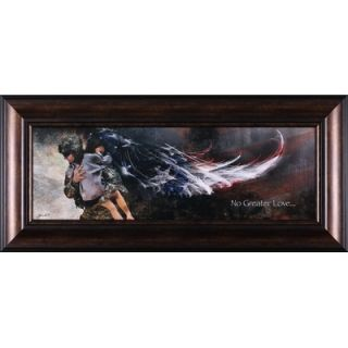 Effects No Greater Love Soldier with Child Art   20 x 44