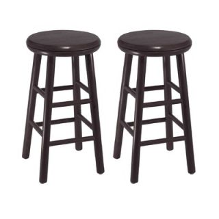 Winsome 24 Swivel Counter Stool in Dark Espresso (Set of 2)