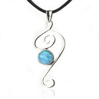 Anna Bloom Designs Sterling Silver Blue Opal Bella Necklace