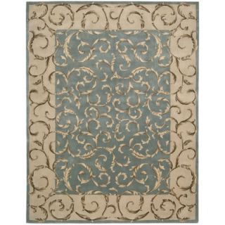 Liora Manne Spello Arabesque Aqua Outdoor Rug   SLO211704