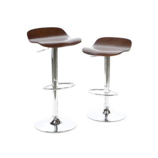 Kallie Air Lift Adjustable Stool in Cappuccino (Set of 2)
