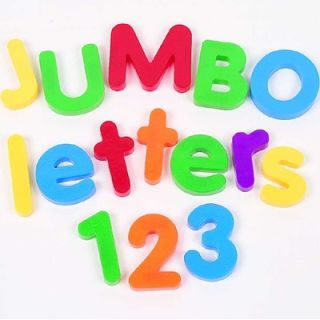 Learning Resources Jumbo Magnetic Letters and Numbers Combo Set
