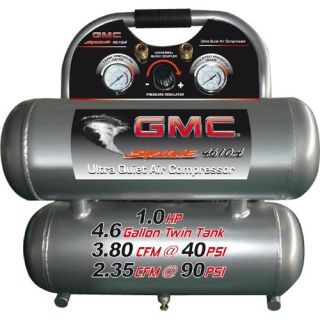GMC SYCLONE 4610A Ultra Quiet & Oil Free Air Compressor (Twin Alum