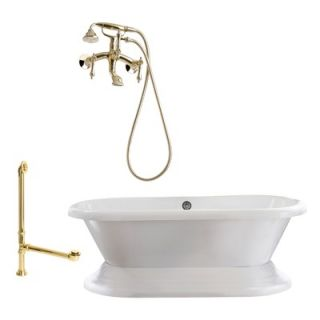 Giagni Wescott 72 Dual Tub with Wall Mount Faucet
