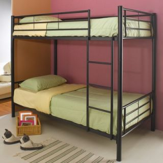 Moon Valley Rustic Nicholas Twin over Twin Bunk Bed with Built In