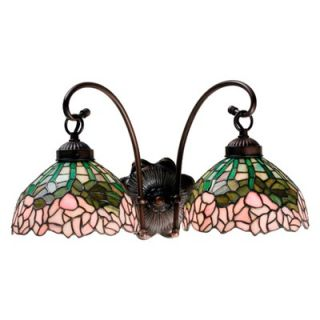 Meyda Tiffany Cabbage Rose Two Light Wall Sconce