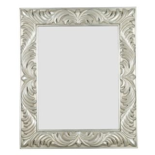 Kenroy Home Antoinette Rectangular Wall Mirror in Antique Silver