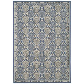 Safavieh Courtyard Blue/Ivory Checked Rug   CY5149C