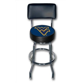 Sports Fan Products NCAA   Chrome Swivel Barstool With Backrest