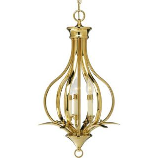 Progress Lighting Trinity 3 Light Foyer Chandelier   P3807 09