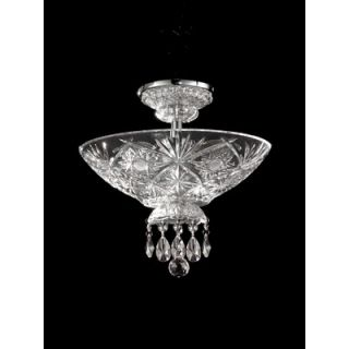 Dale Tiffany Bayford Court 3 Light Semi Flush Mount