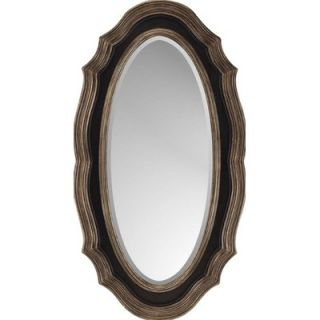 Paragon Dark Brown / Gold Oval Traditional Wall Mirror