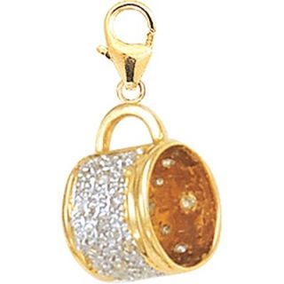 EZ Charms 14K Yellow Gold Diamond Cup Charm