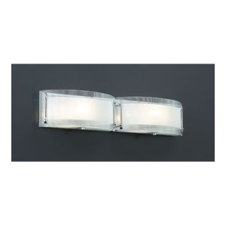 PLC Lighting Millennium Vanity Light in Polished Chrome   7824