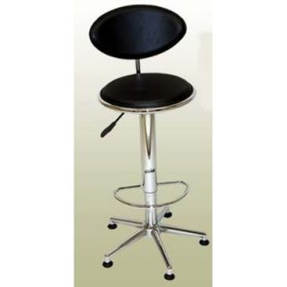 Chintaly Soho Adjustable Swivel Stool in Black