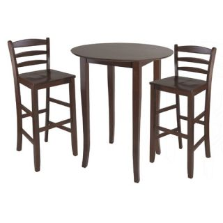 Steve Silver Furniture Antoinette 3 Piece Pub Table Set in Multi Step