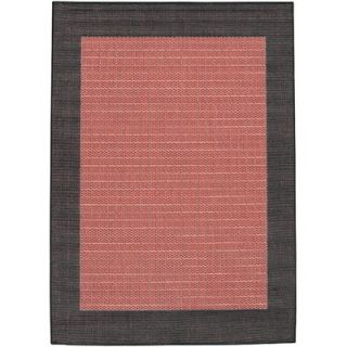 Couristan Recife Checkered Field Terra Cotta Rug   1005 4000