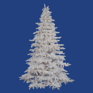 Flocked White Spruce 7.5 Artificial Christmas Tree with Clear Lights