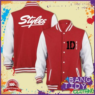 Harry Styles One Direction Inspired Varsity Jacket