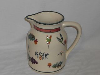 Hartstone Pottery Woodland Water Juice Pitcher 64oz Grape Leaves Acorn