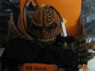New 4 48 Hanging Halloween Prop Decor Pumpkin Face Large Teeth
