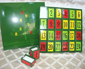 GARNET HILL Christmas MATCHBOX Advent Calendar COUNTDOWN December Gift