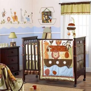 Noahs Ark Neutral Baby Crib Bedding Set (Boy, Girl, Animals, Discount