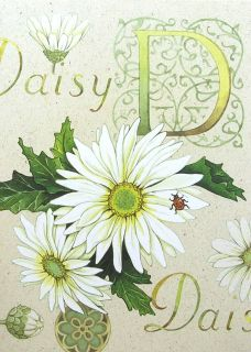 White Daisy Flower Ladybug Happy Birthday Greeting Card Current USA